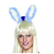 Blauwe lichtgevende konijnen oortjes