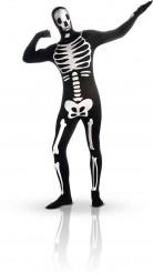 Halloween kostuum tweede huid skelet fosforescerend