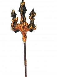 Duivel drietand met vlammen