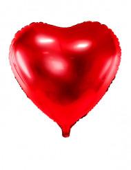 Rode hart folie ballon