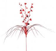 Rode versiering met hartjes