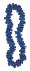 Blauwe Hawaii ketting 101 cm