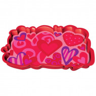 Rood Valentijnsdag schaal