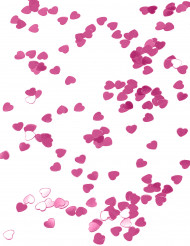 Confetti harten in het gemetaliseerd donker roze