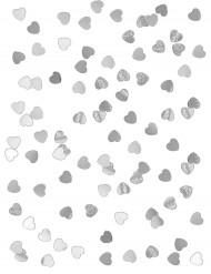 Confetti harten in het gemetaliseerd zilver !