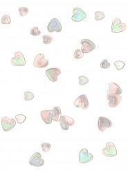 Confetti regenboog kleurig harten in het roze