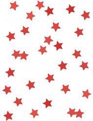 Rode metallic sterren confetti
