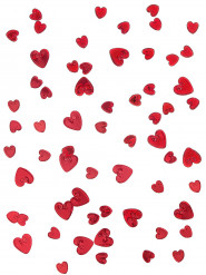 Rood/Roze hartjes confetti