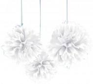Witte bollen decoratie om op te hangen