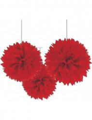 Set rode bloem decoraties