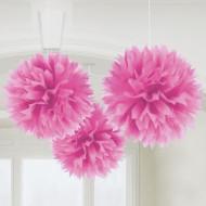 Roze bollen ophangdecoratie
