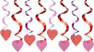 Set rode haartjes decoraties Valentijnsdag