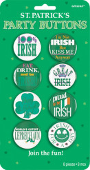 Grappige Ierse Saint Patrick Badges