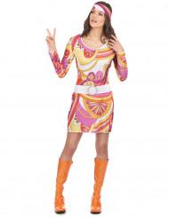 Licht hippie sixties kostuum voor vrouwen