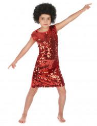 Rode disco jurk voor meisjes