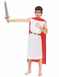 Wit en rood Romeins kostuum voor jongens