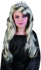 Zilveren prinsessenpruik voor meisjes