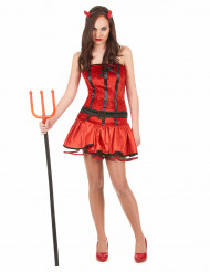 Rood duivelin kostuum voor vrouwen