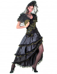 Flamenco danseres dames zwart en goud