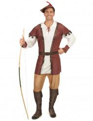 Bruin Robin Hood kostuum voor mannen