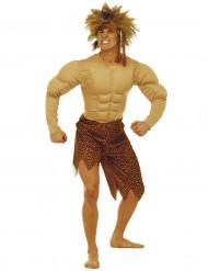 Gespierd jungle man kostuum voor heren