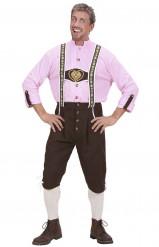 Roze en bruin Beiers kostuum voor mannen