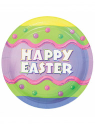 8 borden Happy Easter Pasen 23 cm