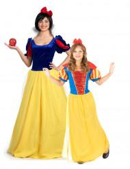 Prinses sneeuwwitje kostuum voor moeder en dochter