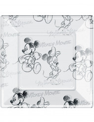 Set vierkant borden Mickey Black and White™