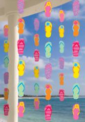 Kleurrijke slippers decoraties