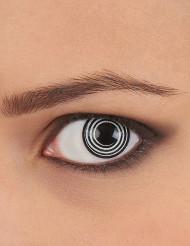 Contactlenzen met zwart/wit spiraal