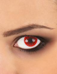 Zwarte en rode spinnenweb contactlenzen voor volwassen