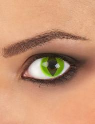 Groene reptiele contactlenzen