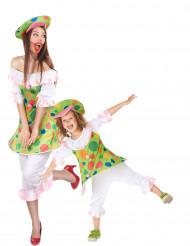 Koppel Clown Kostuum moeder en dochter