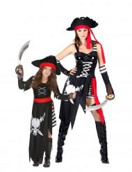 Piraten koppelkostuum moeder en dochter