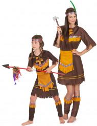 Koppel kostuum Indiaanse vrouw en kind