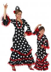 Spaanse flamenco kostuums voor moeder en dochter