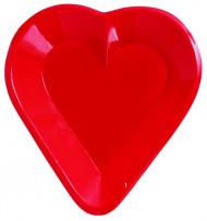 Hartvormige plastic kom