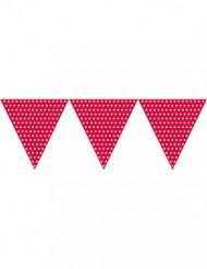 Vlaggenlijn rood met witte stippen