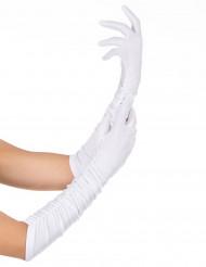 Elegante lange witte handschoenen voor volwassenen