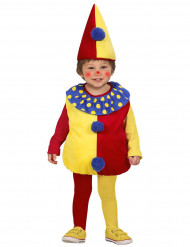 Kleurrijk clown kostuum voor mannen kinderen
