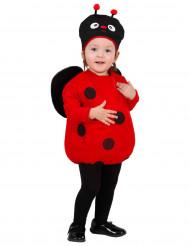 Klein lieveheersbeestje pak met hoedje voor meisjes