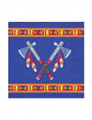 Papieren servetten indianen