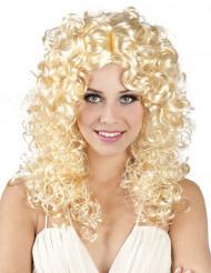 Blond gekrulde pruik voor dames