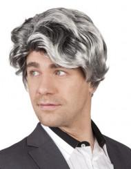 Korte grijze pruik voor mannen