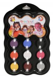 Dieren make-up set 9 kleuren