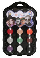 Halloween schminkpalet met 9 kleuren