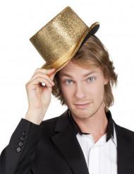 Hoge hoed goudkleurig voor volwassenen