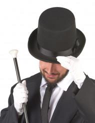 Zwarte hoge hoed voor volwassen