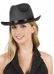 Gestreepte gangster hoed voor volwassenen